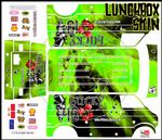 GREEN The Gambler Lucky 13 themed vinyl SKIN Kit & Stickers to fit Tamiya Lunchbox R/C Monster Truck
